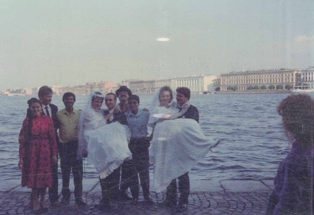 At Leningrad with Newly Married Russian Brides & Grooms