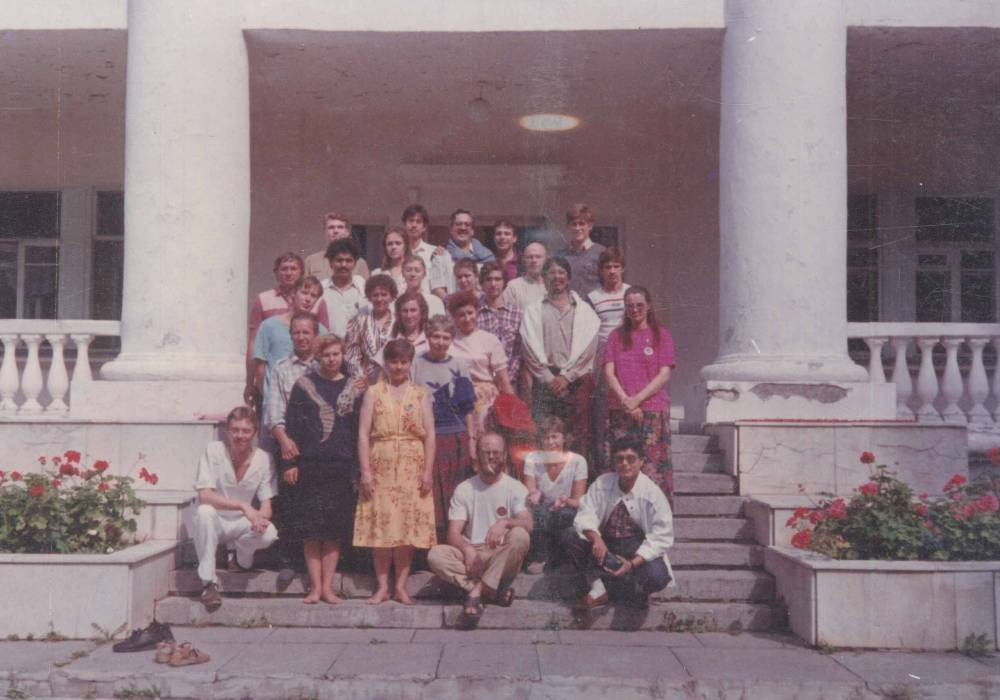 At Leningrad Official Government residence 1991 We all stayed with Shree Mataji
