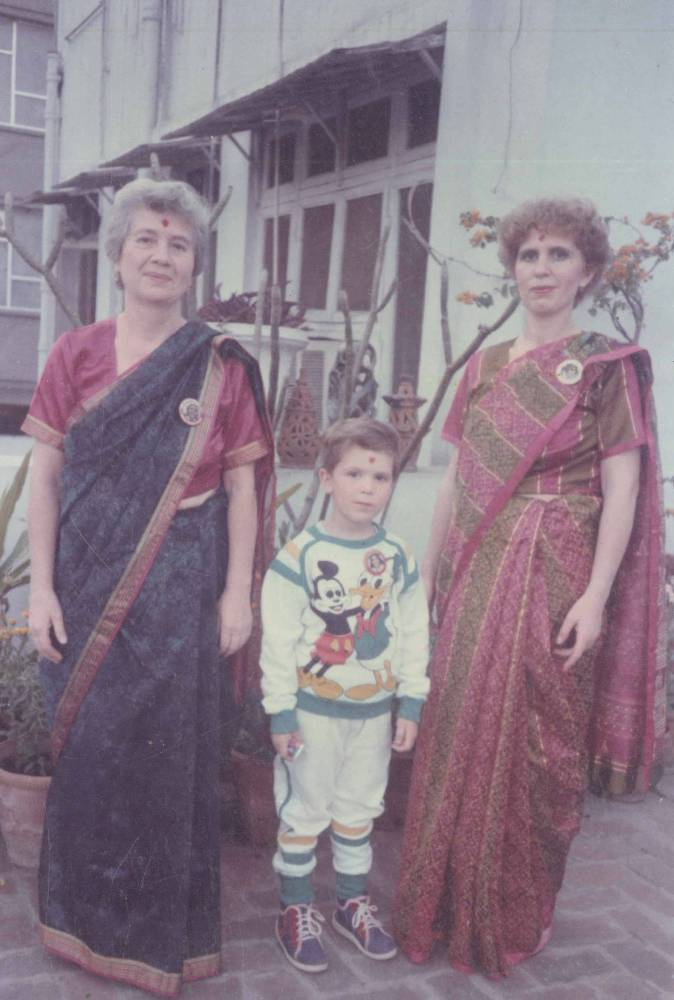 Svetlana, her son Yura & Mother at our home in New Delhi