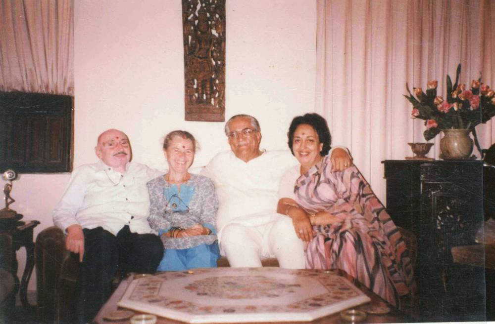 At Home my Parents with their French Sister 1992