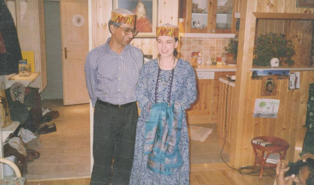 With Deepak & Evelin Midha in Vienna 2004