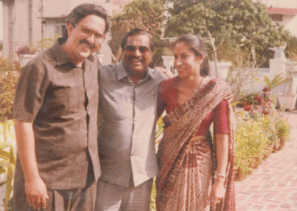 With Baba Mama & wife Aradhana at my Home New Delhi 1985