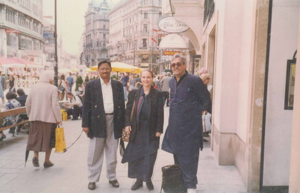 In Prague with Desraj & Eveline 2002