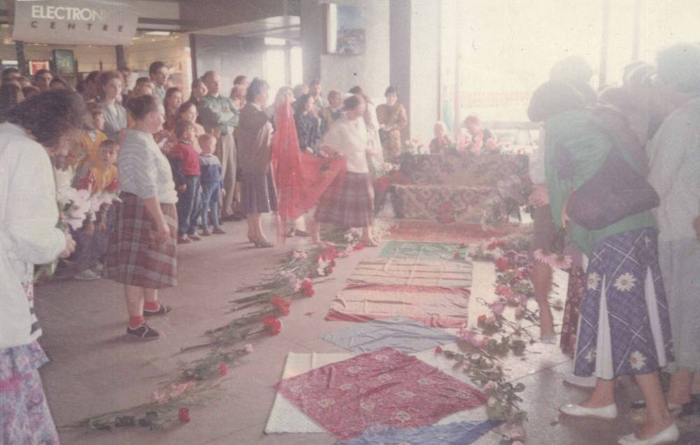 Waiting to receive Mother at Leningrad Airport upon her arrival to Russia 1991